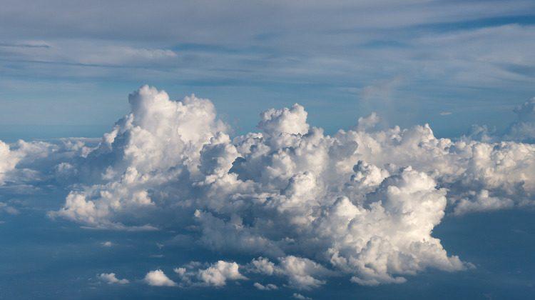 Bild på moln